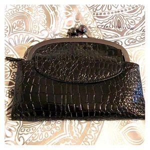 Women's Alligator Black Wallet/Purse